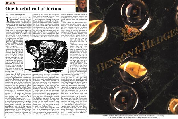 Article Preview: One fateful roll of fortune, August 1988 | Maclean's