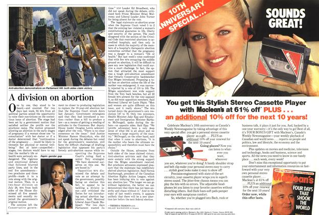 Article Preview: A division on abortion, August 1988 | Maclean's