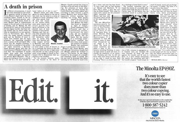 Article Preview: A death in prison, August 1988 | Maclean's