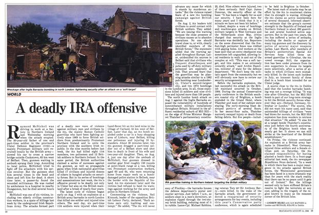 Article Preview: A deadly IRA offensive, August 1988 | Maclean's