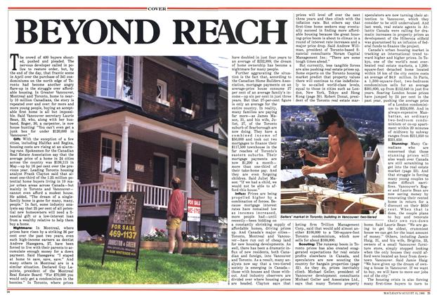 Article Preview: BEYOND REACH, August 1988 | Maclean's