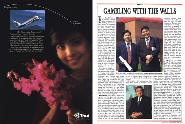 Article Preview: GAMBLING WITH THE WALLS, August 1988 | Maclean's