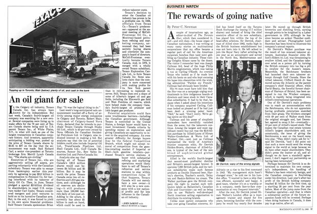 Article Preview: The rewards of going native, August 1988 | Maclean's