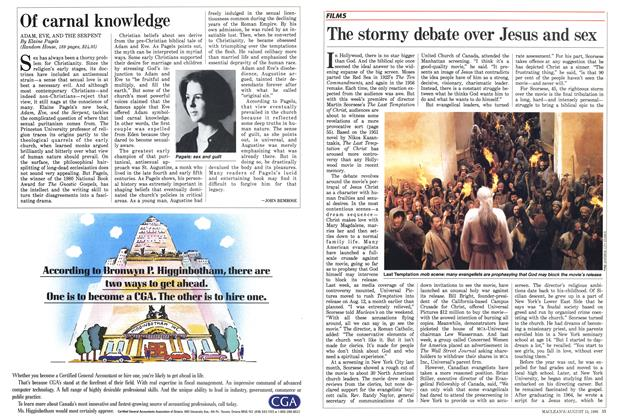 Article Preview: The stormy debate over Jesus and sex, August 1988 | Maclean's