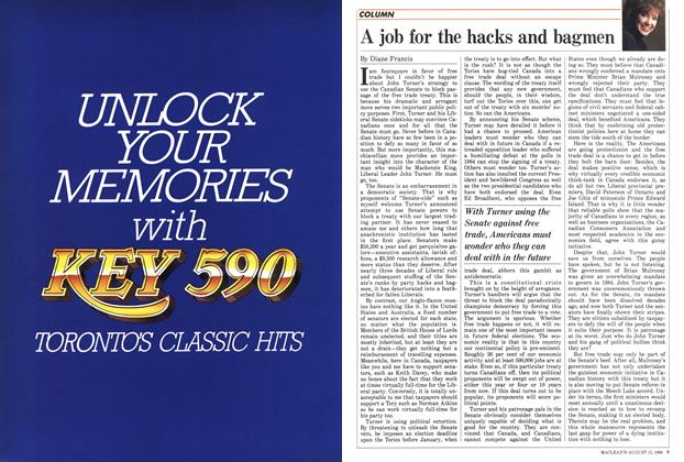 Article Preview: A job for the hacks and bagmen, August 1988 | Maclean's