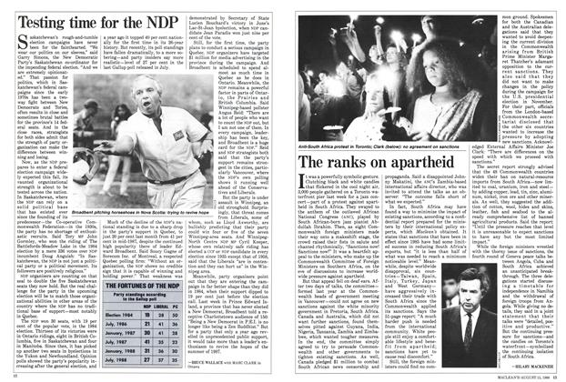 Article Preview: Testing time for the NDP, August 1988 | Maclean's