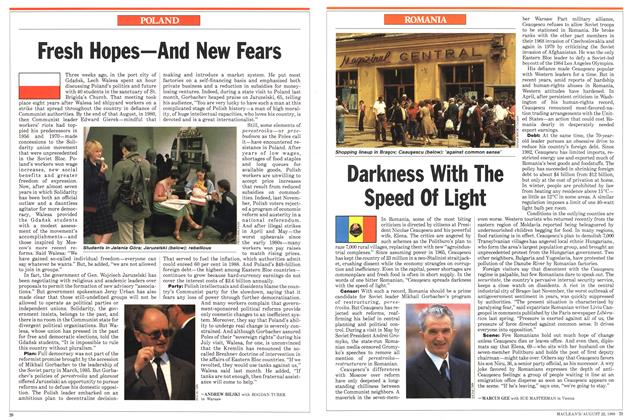 Article Preview: Darkness With The Speed Of Light, August 1988 | Maclean's