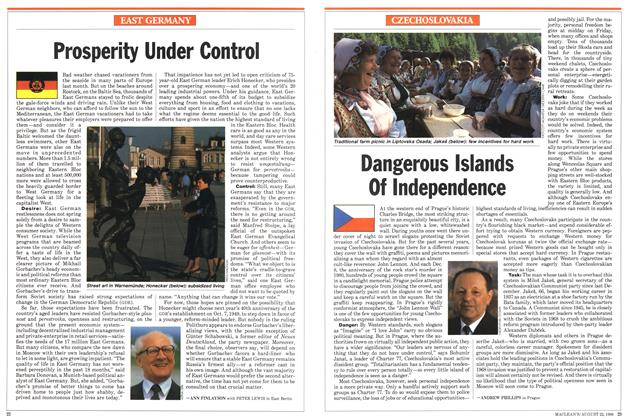 Article Preview: Dangerous Islands Of Independence, August 1988 | Maclean's