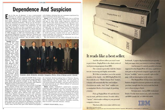 Article Preview: Dependence And Suspicion, August 1988 | Maclean's