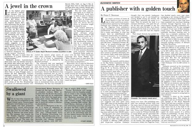 Article Preview: A publisher with a golden touch, August 1988 | Maclean's