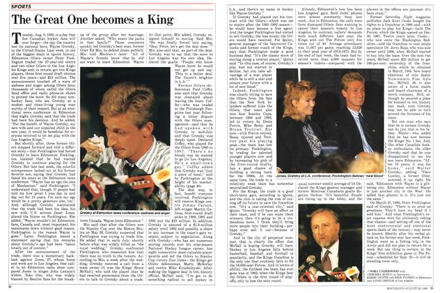 Article Preview: The Great One becomes a King, August 1988 | Maclean's
