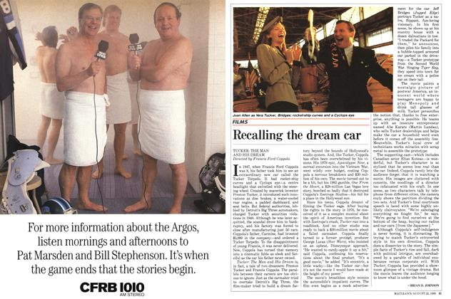 Article Preview: Recalling the dream car, August 1988 | Maclean's