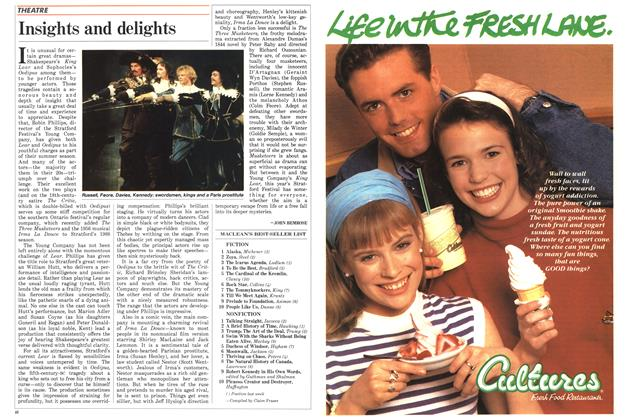 Article Preview: Insights and delights, August 1988 | Maclean's