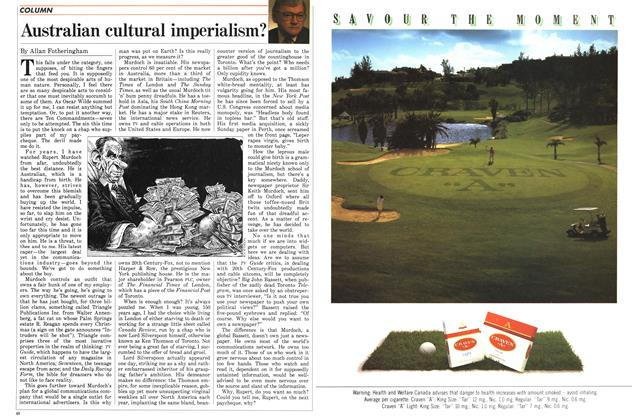 Article Preview: Australian cultural imperialism?, August 1988 | Maclean's
