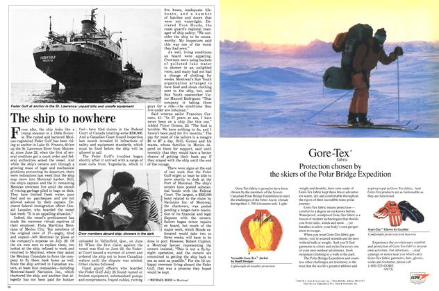 Article Preview: The ship to nowhere, August 1988 | Maclean's
