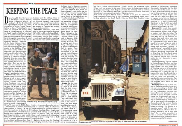 Article Preview: KEEPING THE PEACE, August 1988 | Maclean's