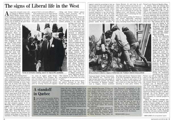 Article Preview: The signs of Liberal life in the West, August 1988 | Maclean's
