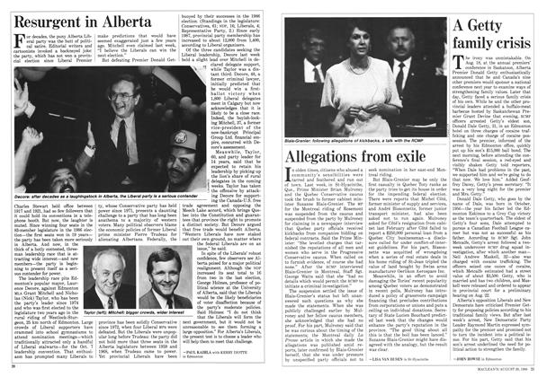 Article Preview: Resurgent in Alberta, August 1988 | Maclean's