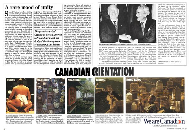 Article Preview: A rare mood of unity, August 1988 | Maclean's