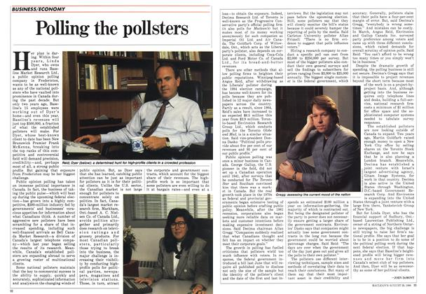 Article Preview: Polling the pollsters, August 1988 | Maclean's