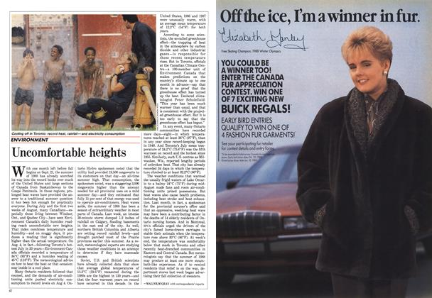 Article Preview: Uncomfortable heights, August 1988 | Maclean's