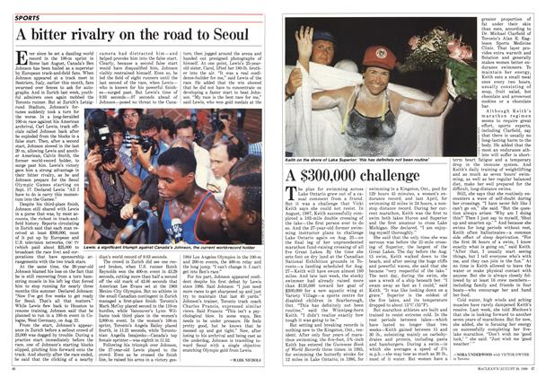 Article Preview: A bitter rivalry on the road to Seoul, August 1988 | Maclean's