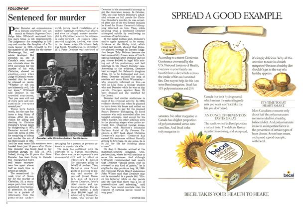 Article Preview: Sentenced for murder, August 1988   Maclean's