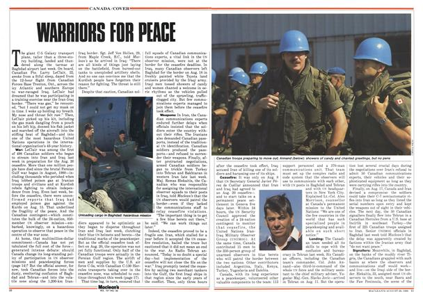 Article Preview: WARRIORS FOR PEACE, August 1988 | Maclean's
