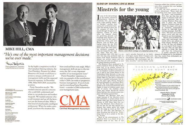 Article Preview: Minstrels for the young, September 1988 | Maclean's
