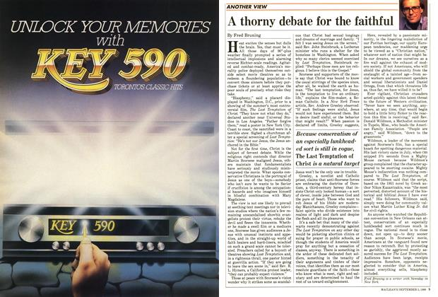 Article Preview: A thorny debate for the faithful, September 1988 | Maclean's