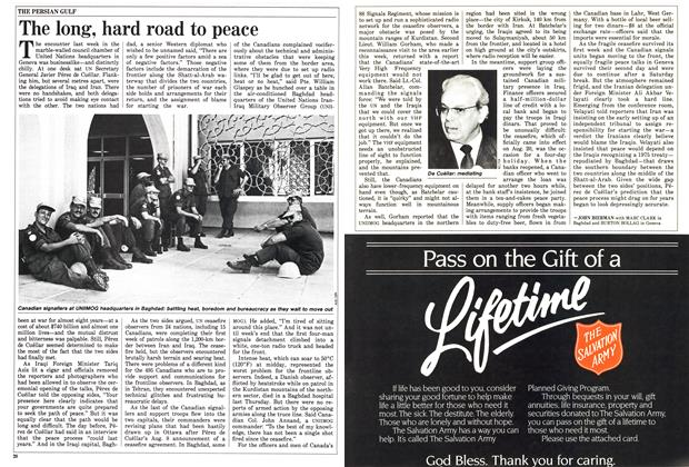 Article Preview: The long, hard road to peace, September 1988 | Maclean's