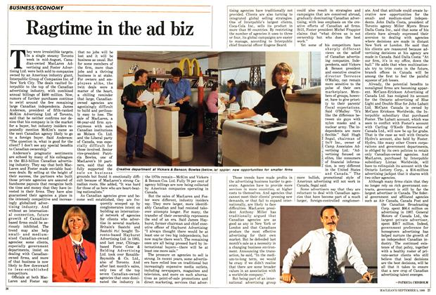 Article Preview: Ragtime in the ad biz, September 1988 | Maclean's
