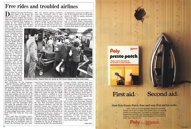 Article Preview: Free rides and troubled airlines, September 1988 | Maclean's