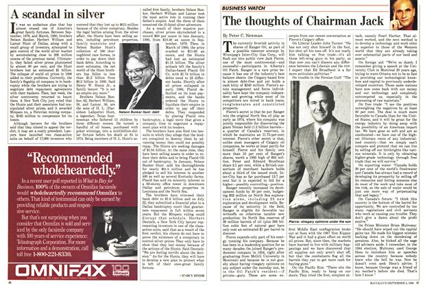 Article Preview: A scandal in silver, September 1988 | Maclean's