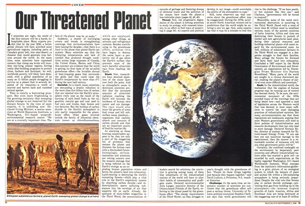 Article Preview: Our Threatened Planet, September 1988 | Maclean's