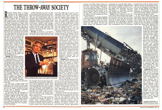 Article Preview: THE THROW-AWAY SOCIETY, September 1988 | Maclean's