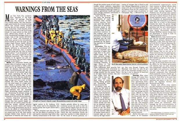 Article Preview: WARNINGS FROM THE SEAS, September 1988 | Maclean's