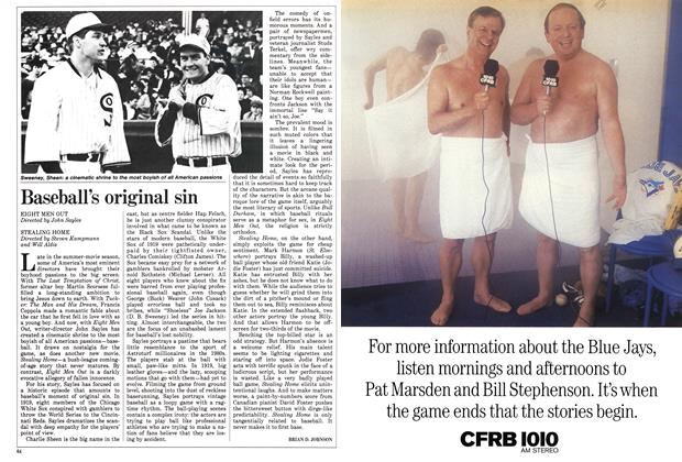 Article Preview: Baseball's original sin, September 1988 | Maclean's