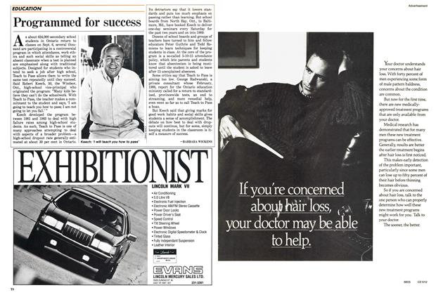 Article Preview: Programmed for success, September 1988 | Maclean's