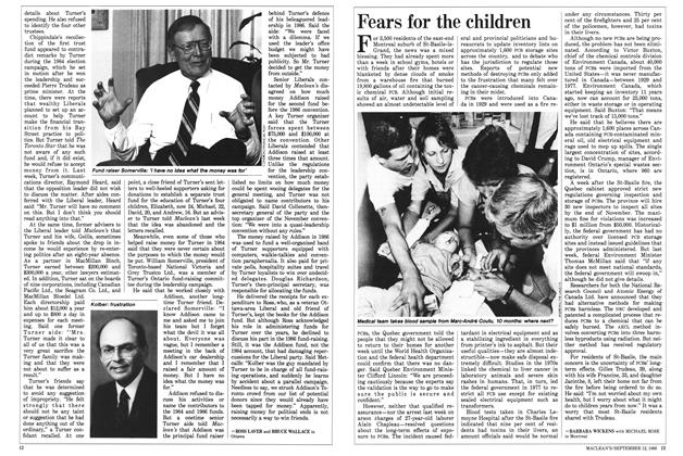 Article Preview: Fears for the children, September 1988 | Maclean's