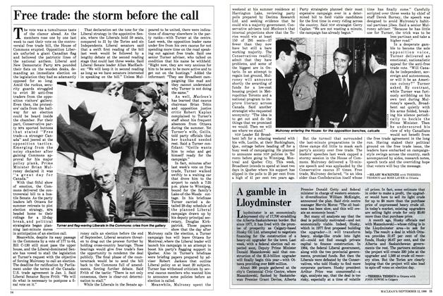 Article Preview: Free trade: the storm before the call, September 1988 | Maclean's