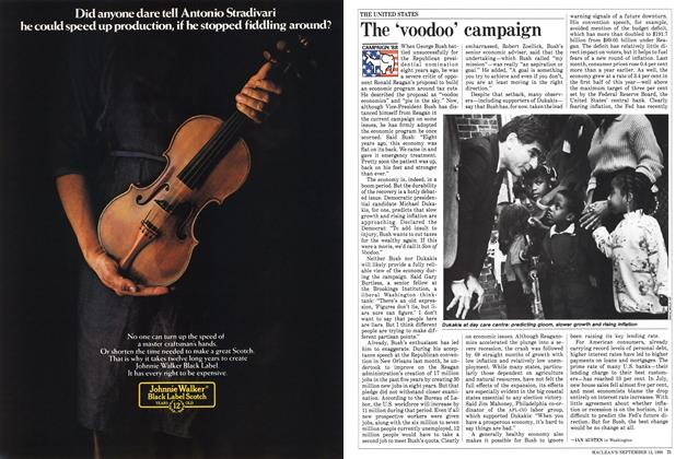 Article Preview: The 'voodoo' campaign, September 1988 | Maclean's