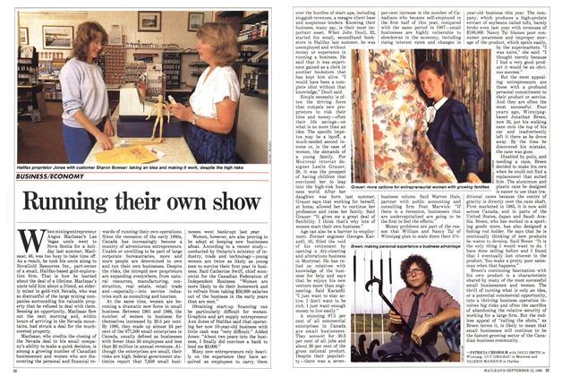 Article Preview: Running their own show, September 1988 | Maclean's