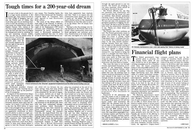 Article Preview: Financial flight plans, September 1988 | Maclean's