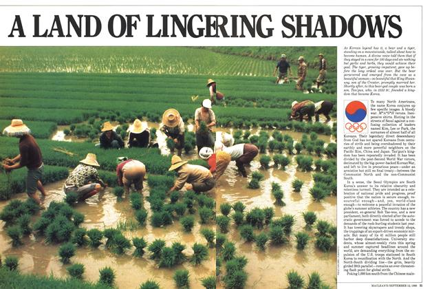 Article Preview: A LAND OF LINGERING SHADOWS, September 1988 | Maclean's