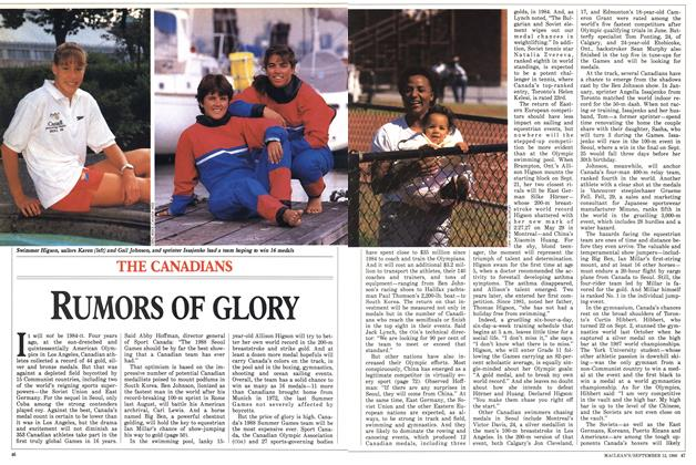 Article Preview: RUMORS OF GLORY, September 1988 | Maclean's