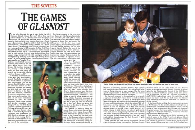Article Preview: THE GAMES OF GLASNOST, September 1988 | Maclean's