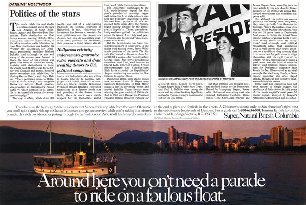 Article Preview: Politics of the stars, September 1988 | Maclean's