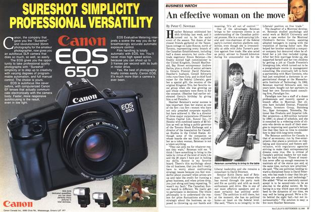 Article Preview: An effective woman on the move, September 1988 | Maclean's