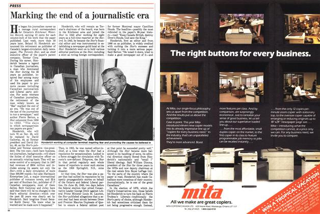Article Preview: Marking the end of a journalistic era, September 1988 | Maclean's